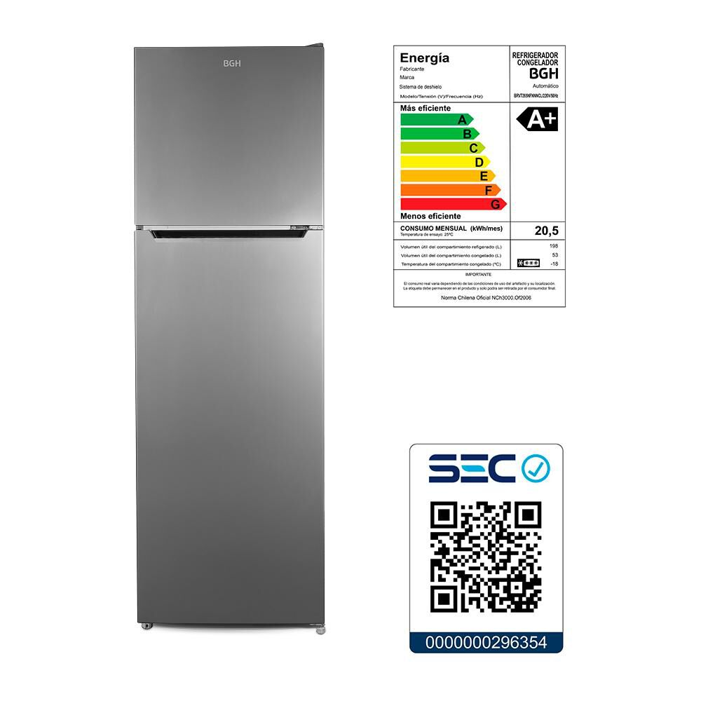 Refrigerador Top Freezer BGH BRVT265 / No Frost / 251 Litros image number 6.0