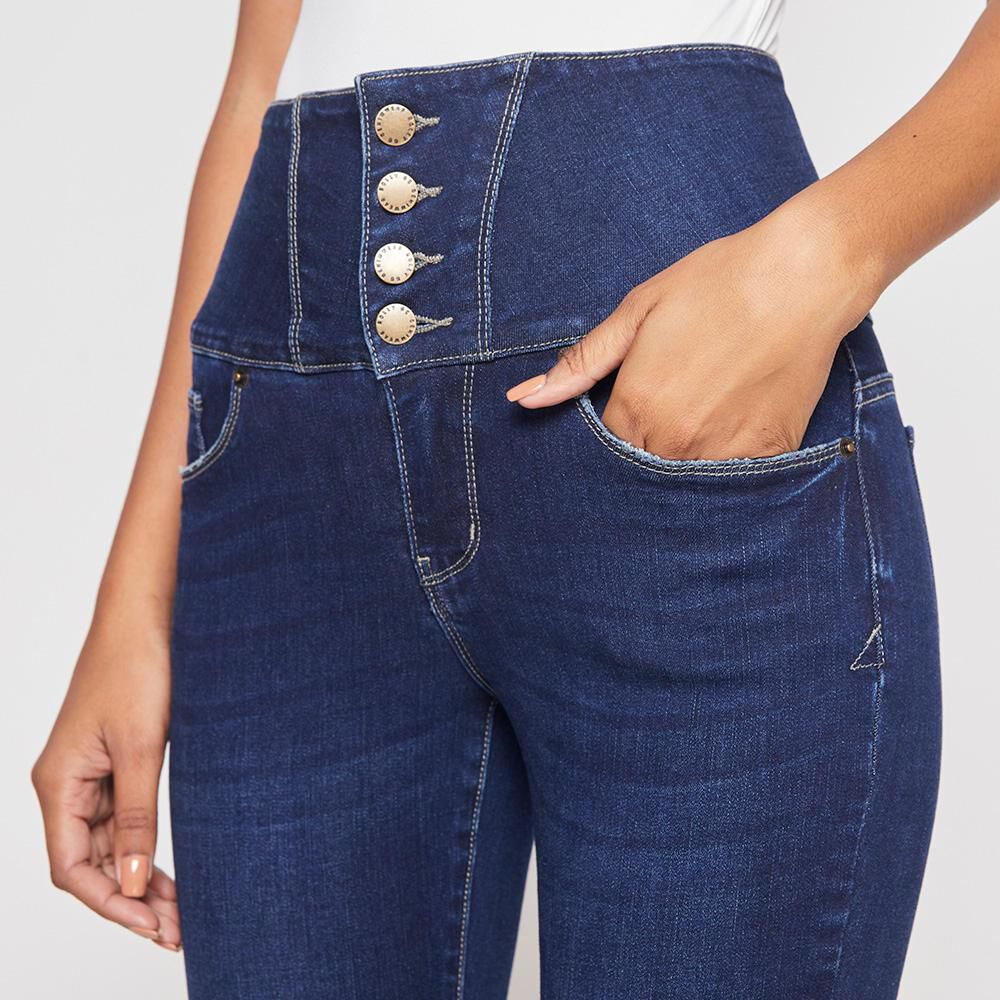 Jeans Mujer Tiro Alto Sculpture Rolly Go image number 3.0