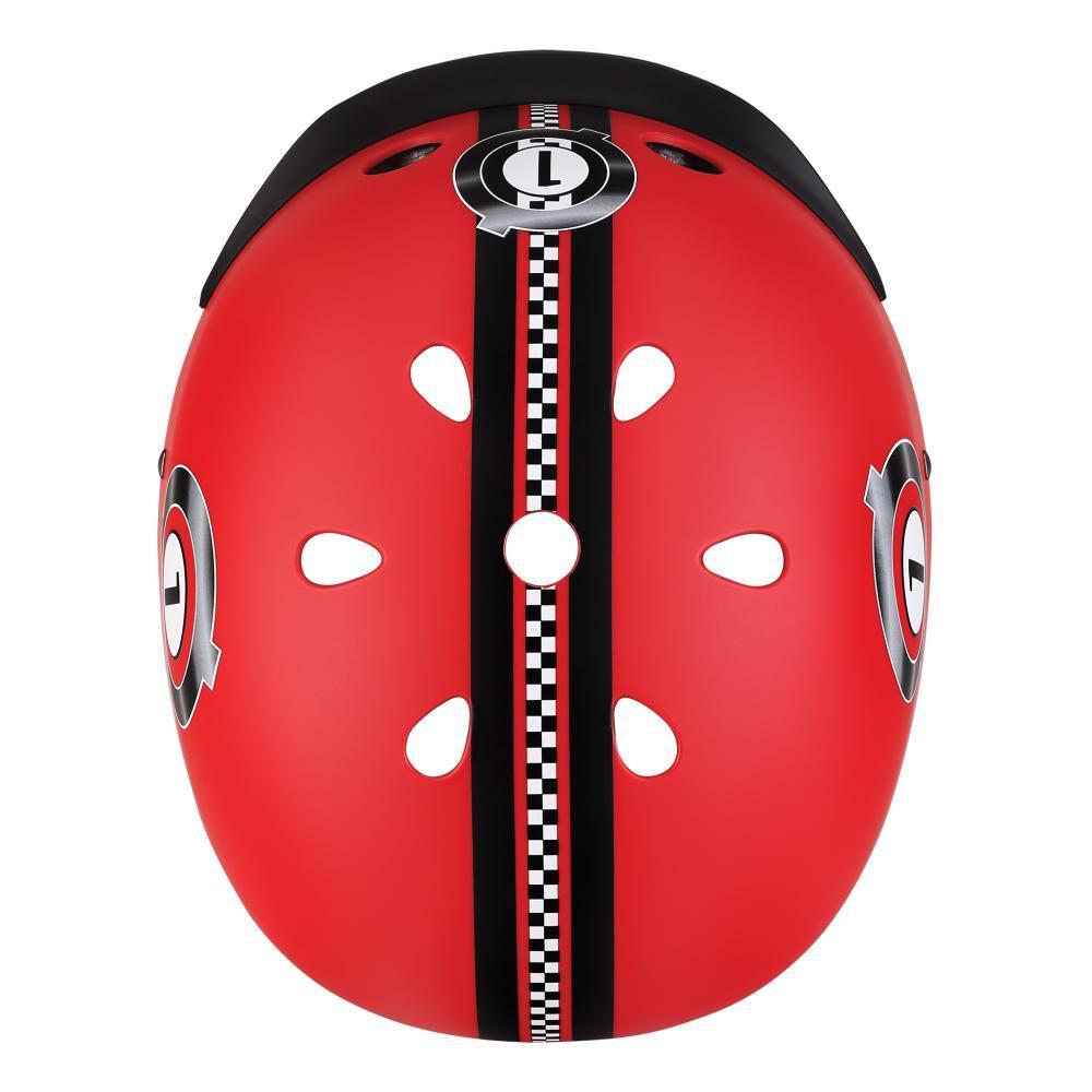 Casco Globber Helmet Elite Lights Red  Xs/S image number 2.0