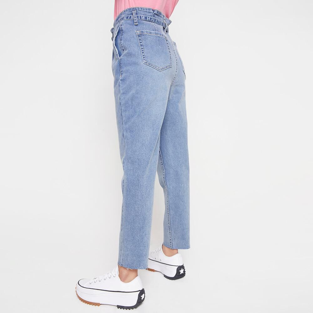 Jeans Mujer Tiro Alto Crop Freedom image number 2.0