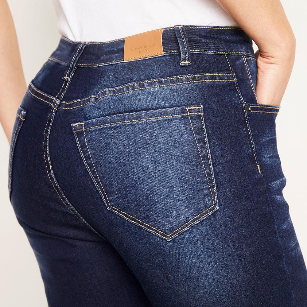 Jeans Básico Tiro Medio Skinny Mujer Kimera image number 4.0