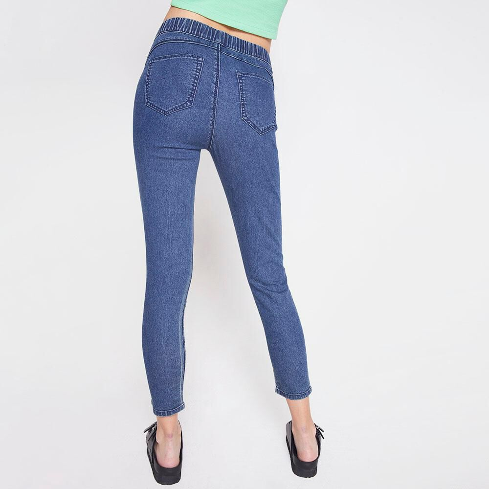 Jeans Tiro Alto Super Skinny Mujer Freedom image number 2.0