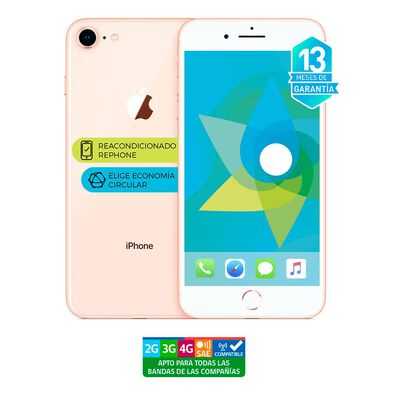 Smartphone Apple Iphone 8 Dorado Reacondicionado / 256 Gb / Liberado
