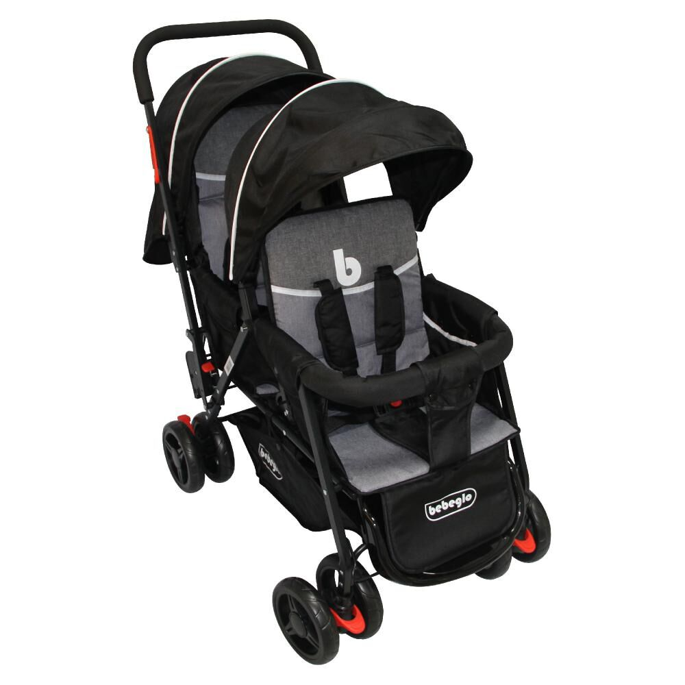 Coches Doble Duo Prix Rs-13300-4 Gris-Negro image number 0.0