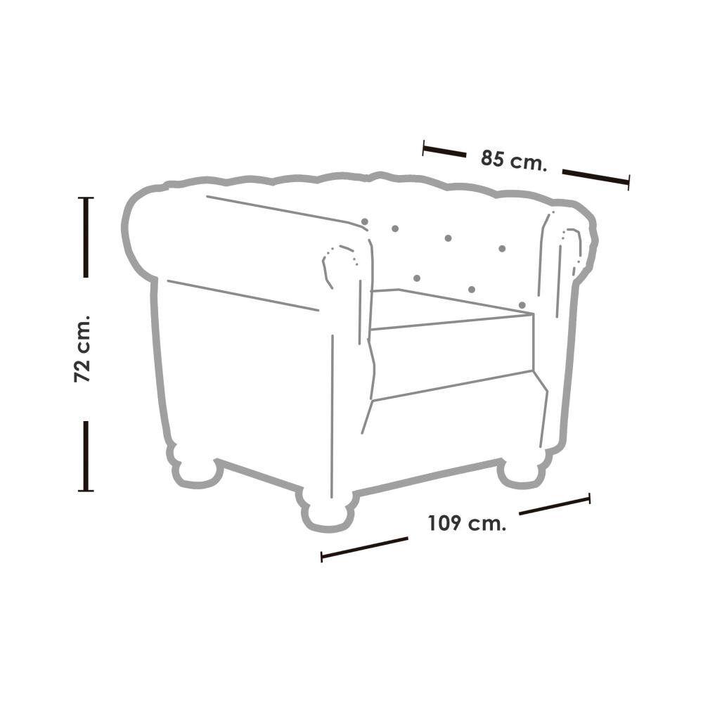 Sofa Mobel Home 1C Cuero / 2-1 Cuerpos image number 4.0