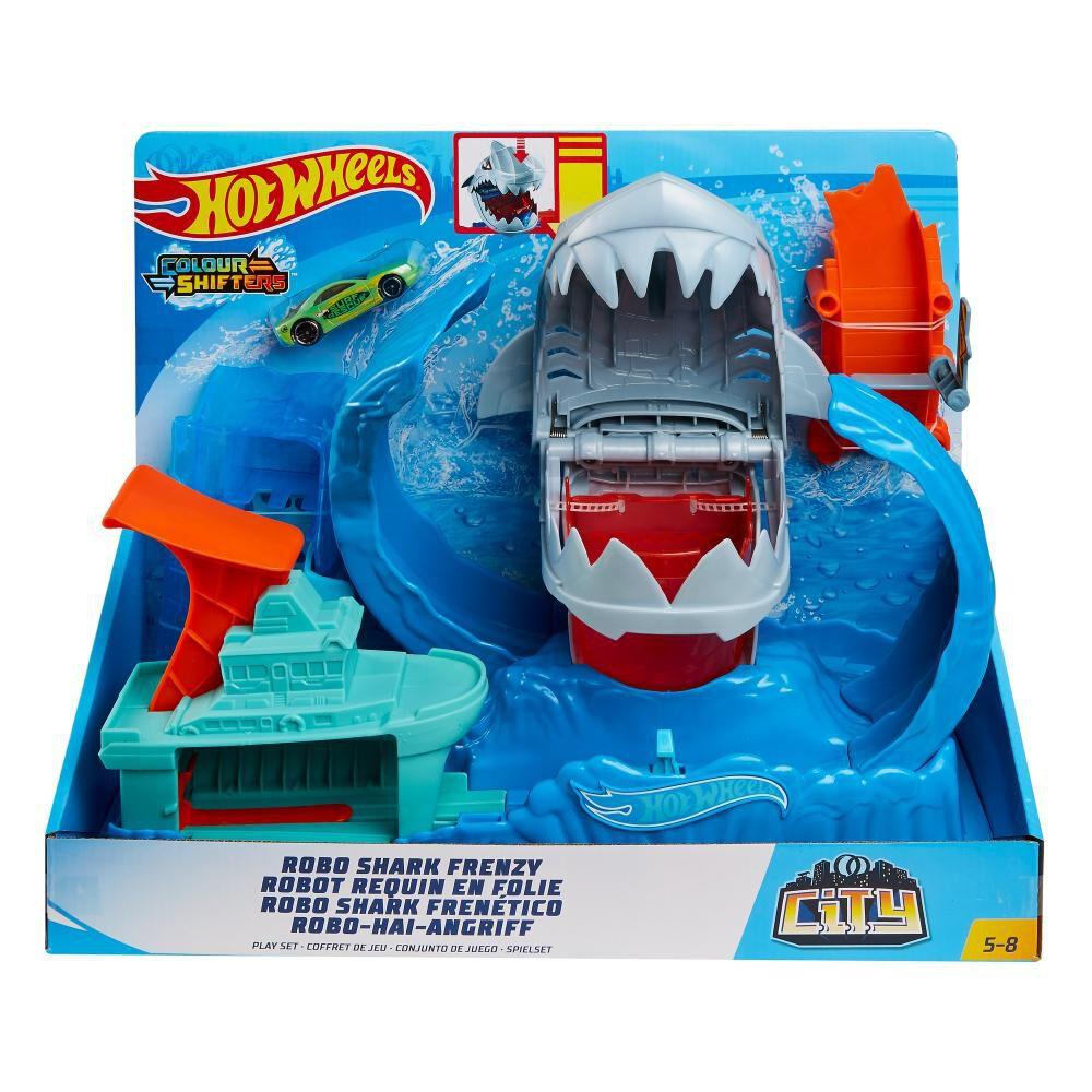 Figura De Accion Hotwheels City Robo Tiburón image number 3.0