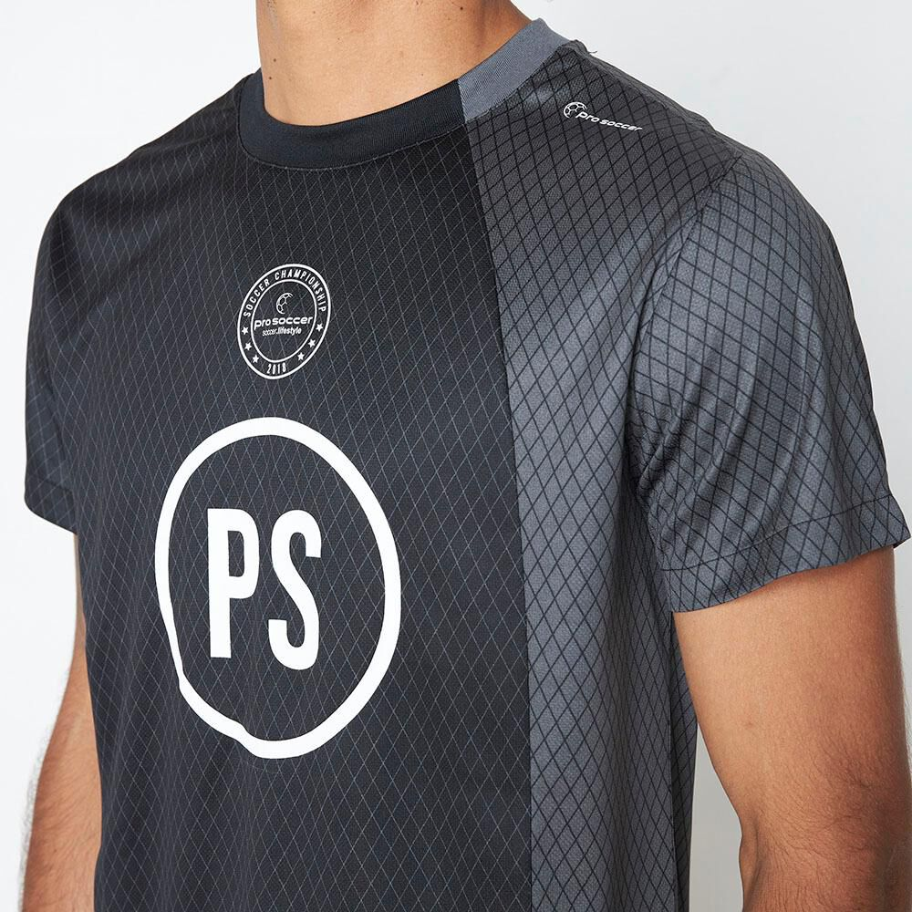 Polera Deportiva Hombre Pro Soccer image number 3.0