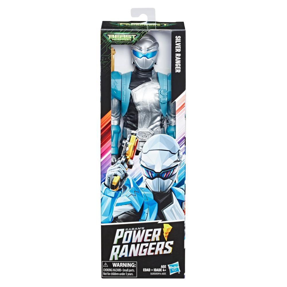 Figura De Acción Power Rangers Bmr Silver Ranger image number 0.0