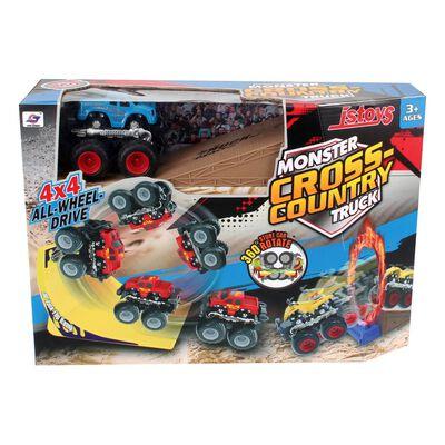 Set Autos A Fricción Hitoys Monsterfriction
