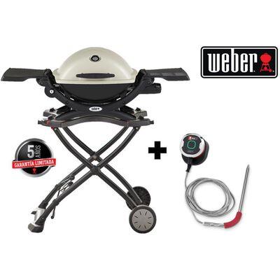 Parrilla A Gas Weber Q1200 + Carrito + Igrill Mini