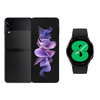 Smartphone Samsung Galaxy Z Flip 3 256 GB Negro + Smartwatch Galaxy Watch4 40 mm