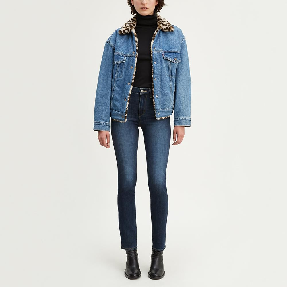 Jeans Mujer Straight Fit Tiro Alto Levi's 724 image number 0.0
