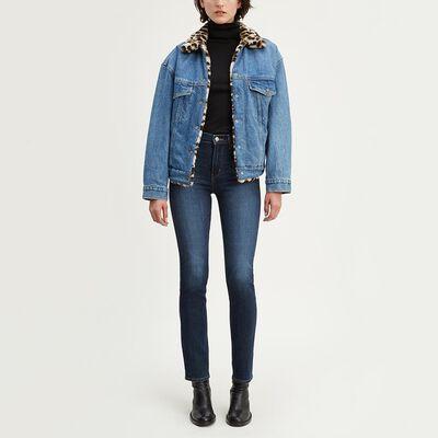 Jeans Mujer Straight Fit Tiro Alto Levi's 724