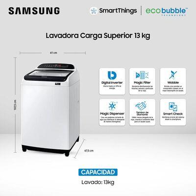 Lavadora Samsung WA13T5260BW/ZS 13 Kilos