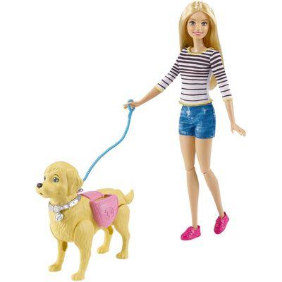 Muñeca Barbie Paseo De Perrito