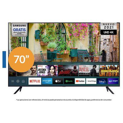 "Led Samsung AU7000 / 70"" / Ultra Hd / 4k / Smart Tv 2021"