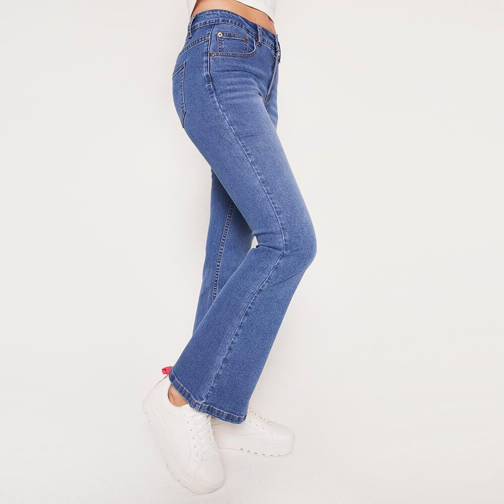 Jeans Tiro Alto Flare Mujer Freedom image number 6.0
