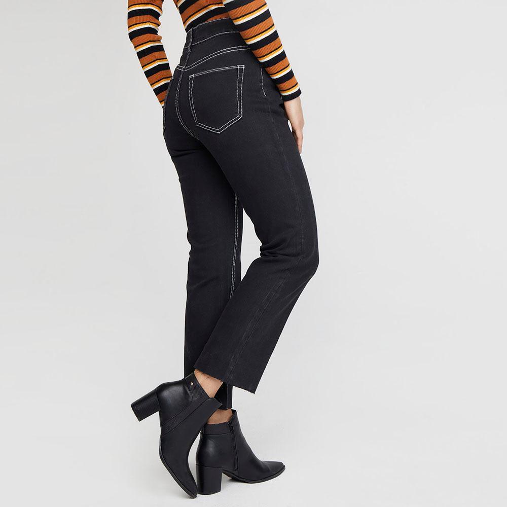 Jeans Mujer Tiro Medio Recto Kimera image number 2.0