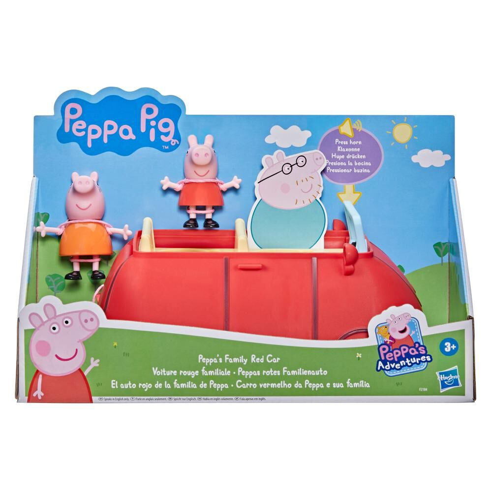 Figura De Acción Peppa Pig Auto Rojo Familiar image number 2.0