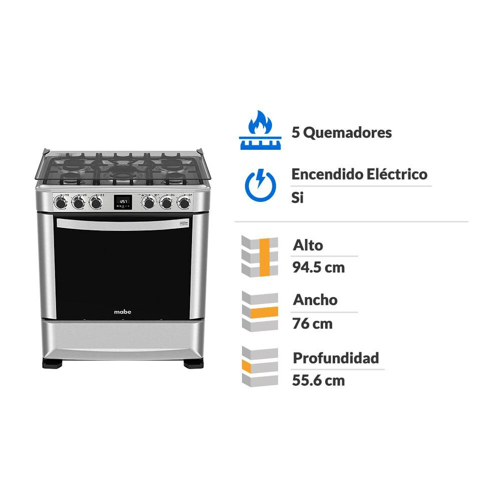Cocina Mabe Andes 7650FX0 / 5 Quemadores image number 1.0