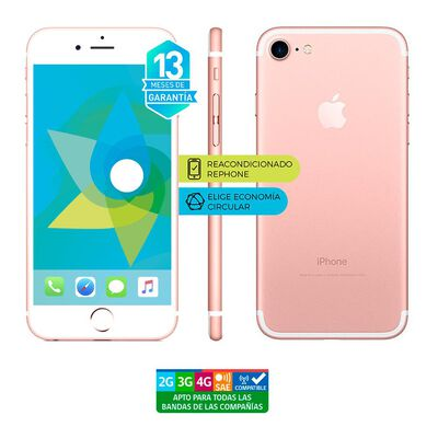 Smartphone Apple Iphone 7 Reacondicionado  Rosado  /  128 Gb   /  Liberado