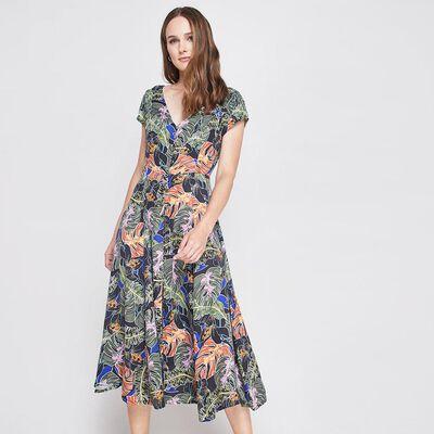 Vestido Midi Print Mujer Kimera