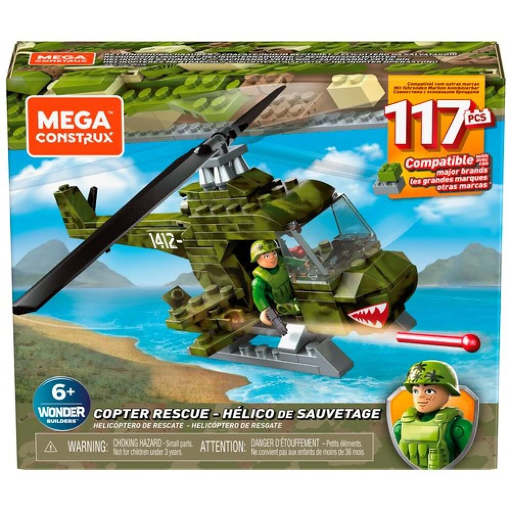 Helicoptero Megabloks Helicoptero Militar Armable image number 4.0