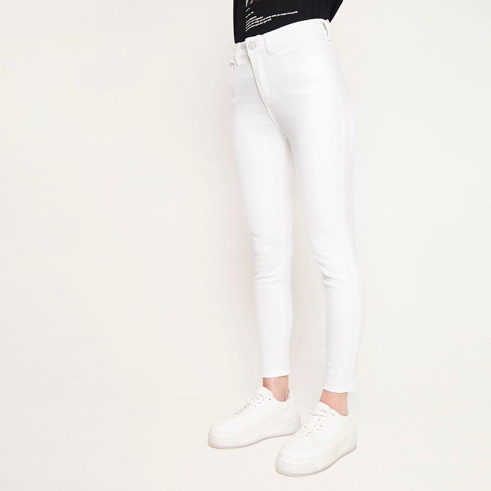 Jeans Blanco Tiro Alto Push Up Mujer Freedom image number 0.0