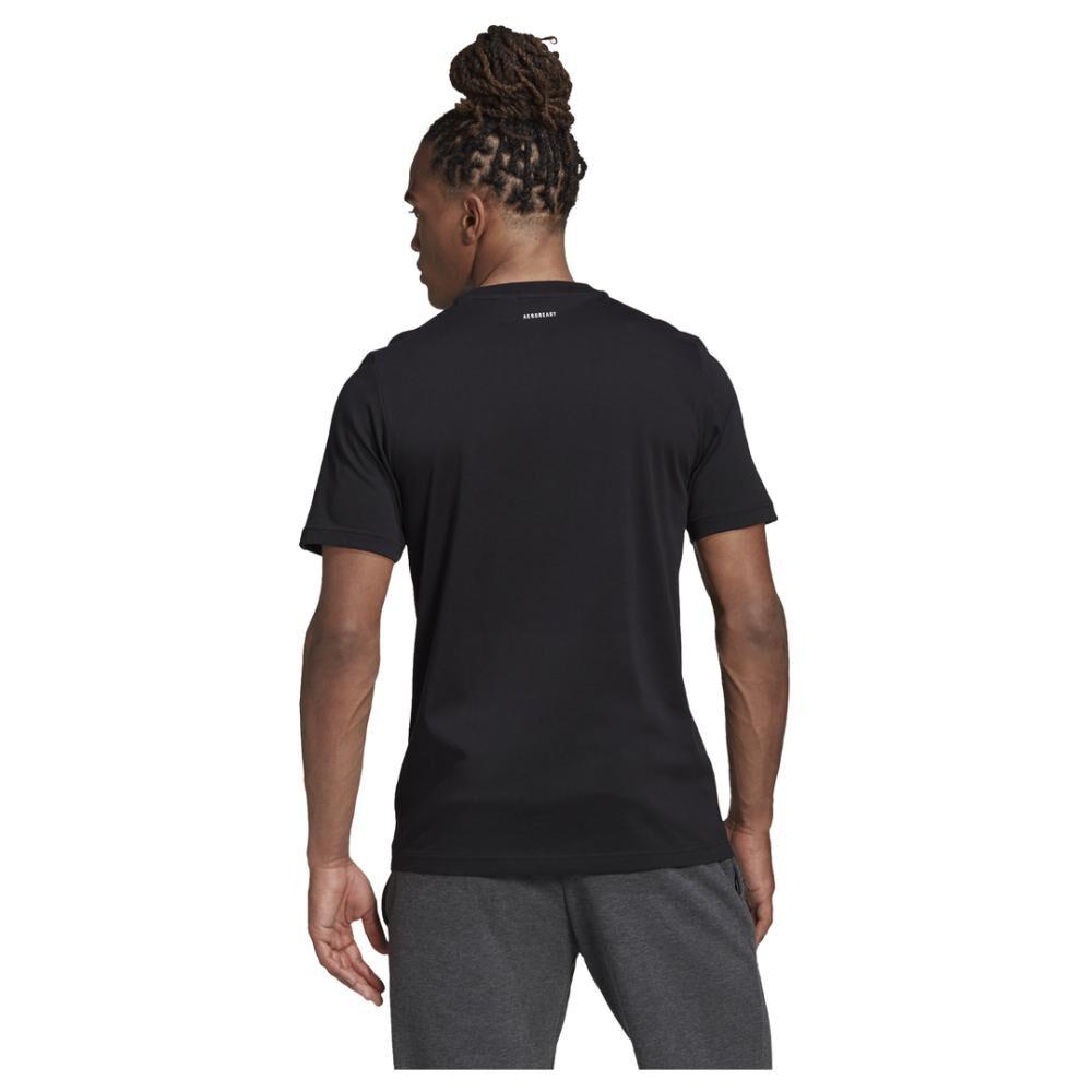 Polera Hombre Adidas M Hyperreal Ballspin Tee image number 6.0