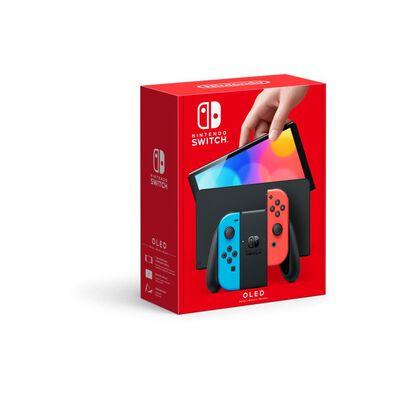 Consola Nintendo Switch Oled W/ Neon Red & Neon Blue Joy-con