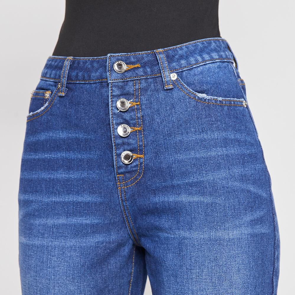 Jeans Mujer Tiro Alto Mom Rolly Go image number 3.0