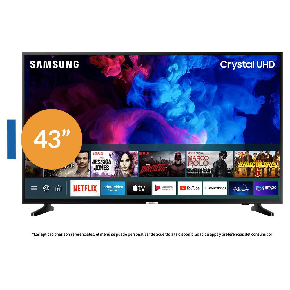 """Led Samsung TU7090 / 43"""" / Crystal Ultra Hd 4K /Smart Tv image number 0.0"""