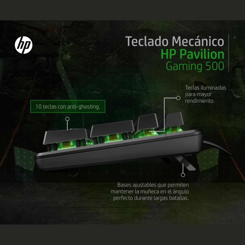 Teclado Gamer Hp Pavilion Gaming 500 image number 3.0