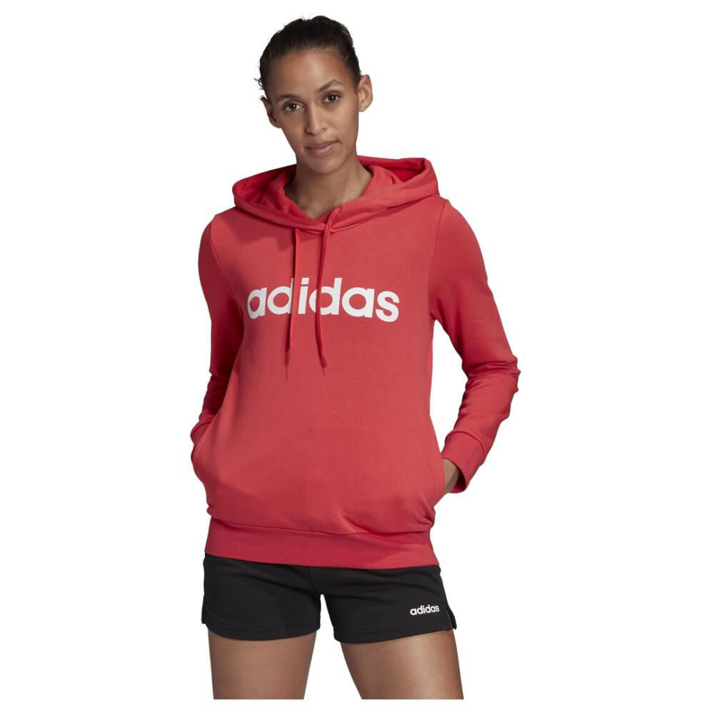 Poleron Deportivo Mujer Adidas Essentials Linear Over Head image number 0.0
