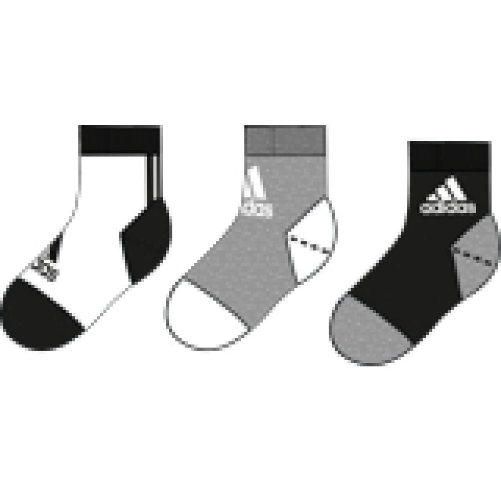 Calcetines Unisex Adidas Little Kids Ankle 3pp image number 4.0