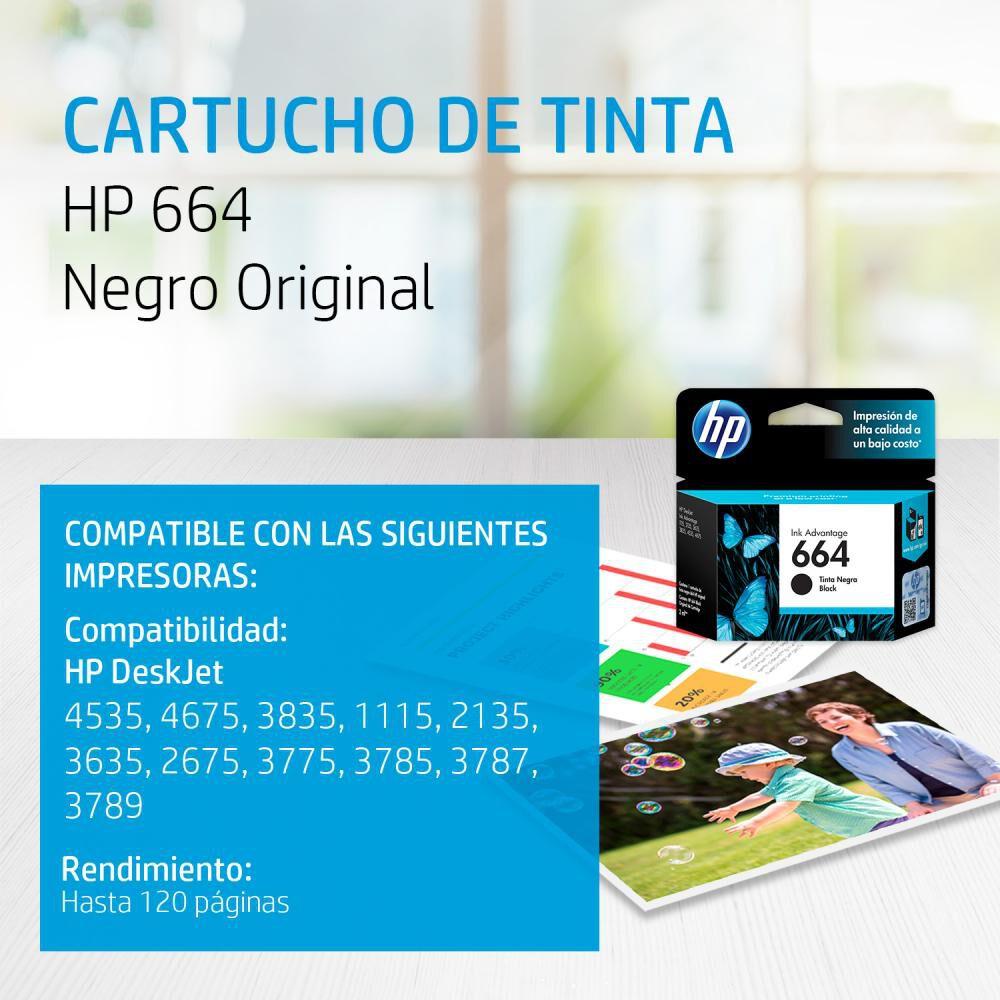 Tinta Hp 664 Black Ink Cartridge image number 1.0