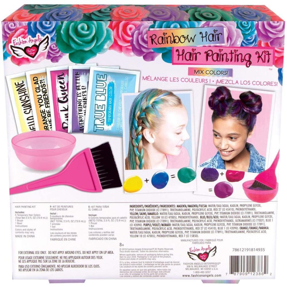 Set De Belleza Fashions Angels Rainbow Hair Painting Kit image number 1.0