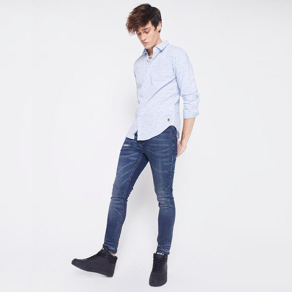 Jeans Slim  Hombre Rolly Go image number 4.0