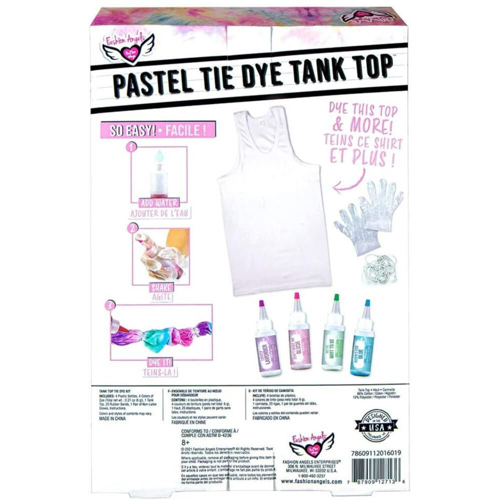 Kit De Teñido Fashions Angels Tie-dye Pastel Tank Top Kit image number 1.0