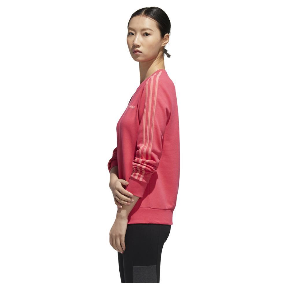 Polerón Deportivo Unisex Adidas Women Essentials 3 Stripe Sweat French Terry image number 3.0