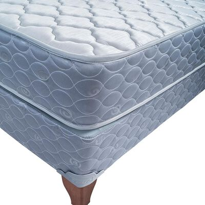 Cama Europea Celta Apolo Black / 1.5 Plazas / Base Normal + Respaldo