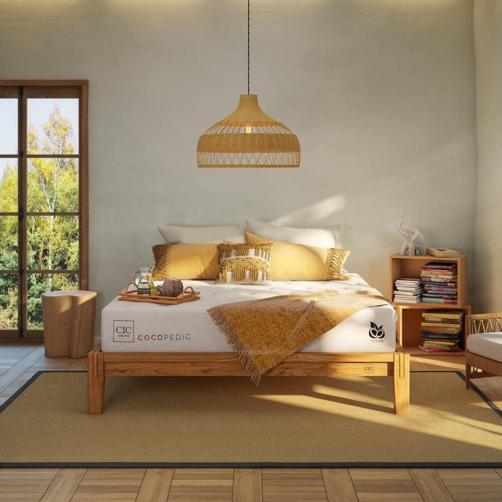 Cama Europea Cic Cocopedic / 2 Plazas / Base Normal + Set De Maderas + Textil image number 11.0