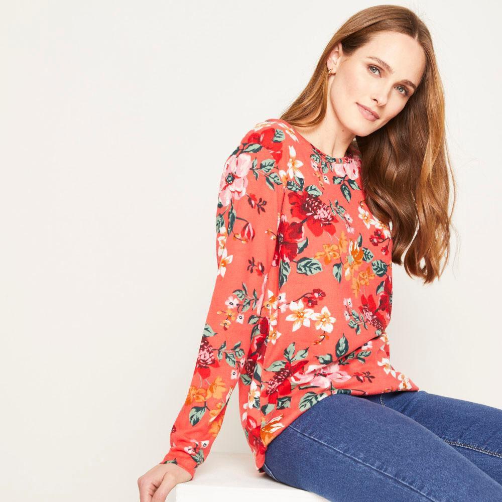 Sweater Estampado Regular Fit Cuello Redondo Mujer Geeps image number 0.0