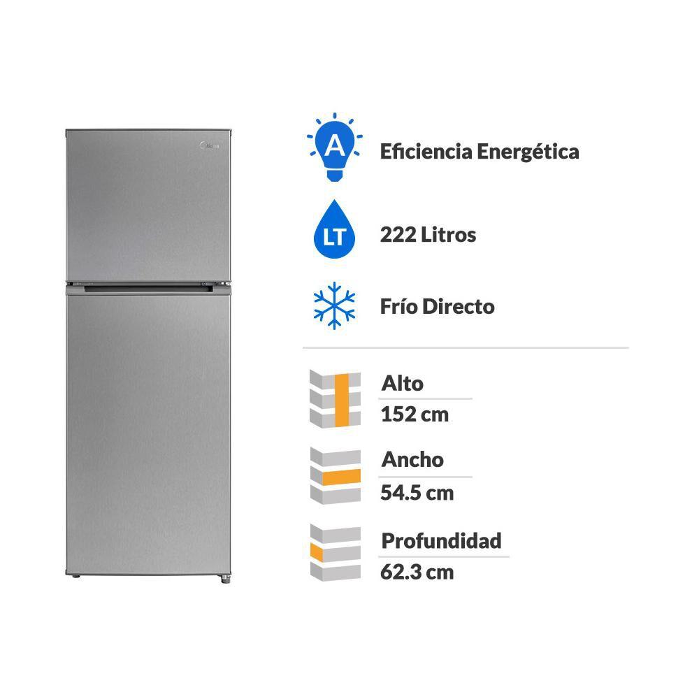 Refrigerador Midea Mrfs-2260s294fwen / No Frost / 222 Litros image number 1.0