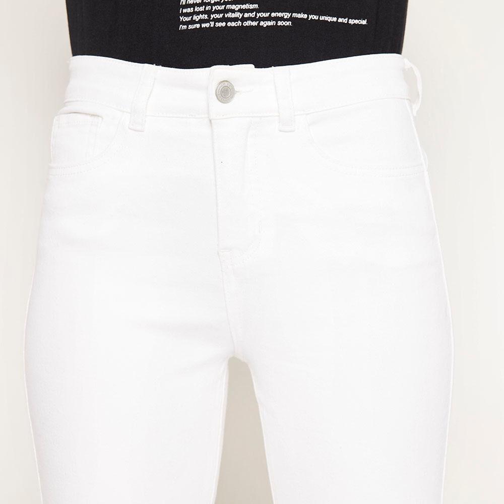 Jeans Blanco Tiro Alto Push Up Mujer Freedom image number 3.0