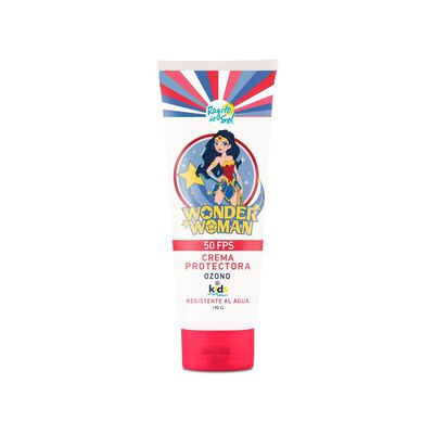 Crema Protectora Ozono Kids Fps 50 Wonder Woman Rayito De Sol