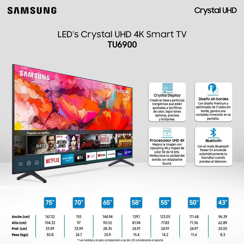 Led Samsung TU6900 / 65'' / Crystal UHD 4K / Smart Tv image number 2.0