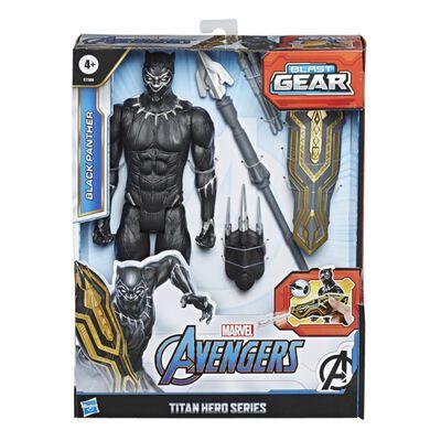 Figura De Accion Avenger Blast Gear Titan Black Panther