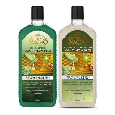 Pack Shampoo + Acondicionador Tío Nacho Aloe Vera