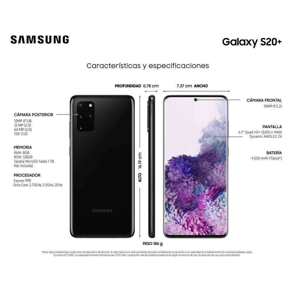 Smartphone Samsung Galaxy S20+ 128 Gb - Liberado image number 3.0
